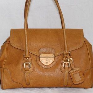 Prada Large Leather Satchel Handbag made ITALY